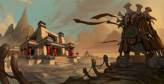This concept was painted for a zone in Aquila.  I actually did not have a lot of changes that I wanted to see after this was completed. I basically gave the artist some notes up front on the structure seen in the foreground.  Other than that he had the freedom to just make a cool piece of art!